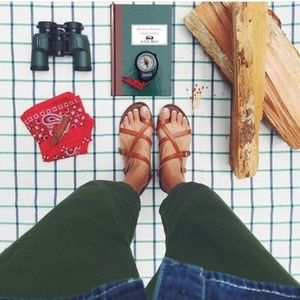 Universal ThreadBrown Toe Wrap Thong Sandals